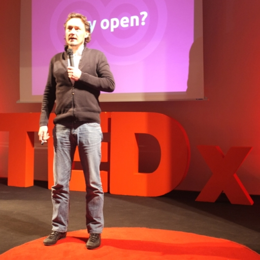 Herr Krueger at TEDxESCP (Photo Credit: Anthony Owen)